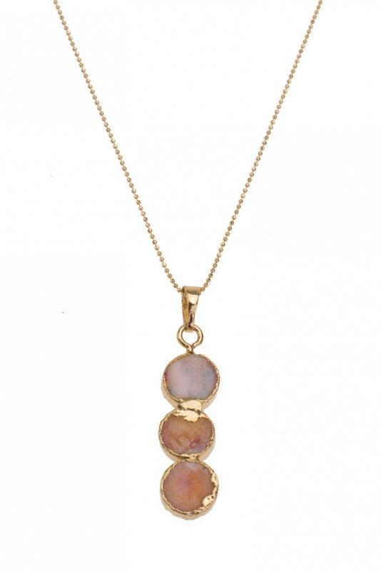 Necklace Peach Agate