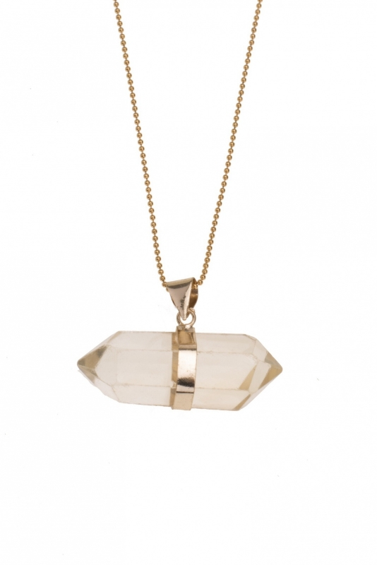 Citrine pendant  with necklace