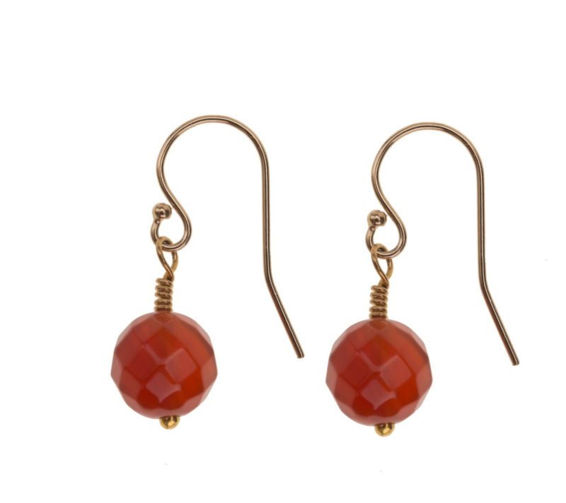 Red Agate Goldplated