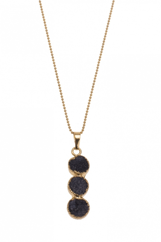 Necklace Black Agate
