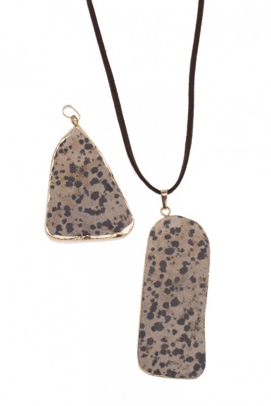 Vergulde hanger Dalmatisch steen