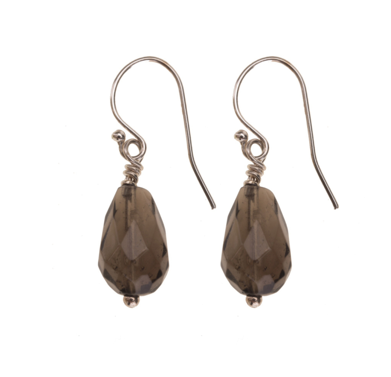 Smokey Quartz Teardrop small Silver