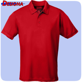 Designa Just Cool Breathable Dart Team Polo Shirt Rood