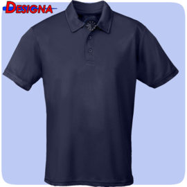 Designa Just Cool Breathable Dart Team Polo Shirt Navy Blue