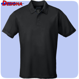 Designa Just Cool Breathable Dart Team Polo Shirt Zwart