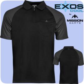 Exos shirt zwart/grijs