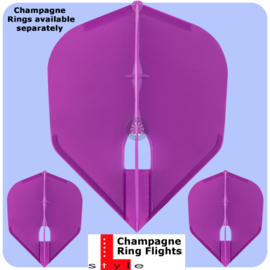 champagne shape donker paars