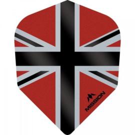 Union Jack Rood/Zwart No6