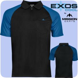 Exos shirt zwart/blauw