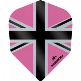 Union Jack Roze/Zwart No6