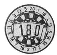 dartbord 180