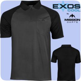 Exos shirt grijs/zwart