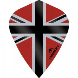 Union Jack Rood/Zwart Kite