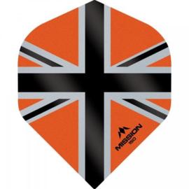 Union Jack Oranje/Zwart No2 150 micron