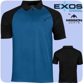 Exos shirt blauw/zwart