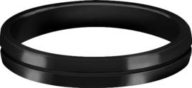 S-Lock Aluminium Rings Zwart