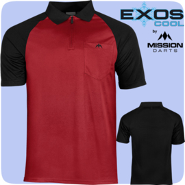 Exos shirt rood/zwart
