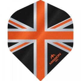 Union Jack Zwart/Oranje No2 150 micron