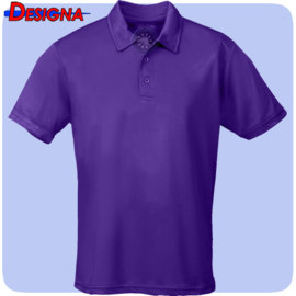 Designa Just Cool Breathable Dart Team Polo Shirt Paars