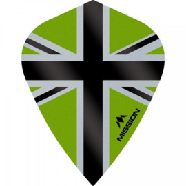 Union Jack Groen/Zwart Kite
