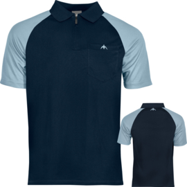 Exos shirt navy blauw & Sky