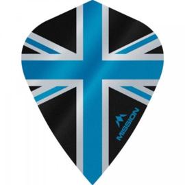 Union Jack Zwart/Blauw Kite