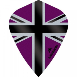 Union Jack Paars/Zwart Kite