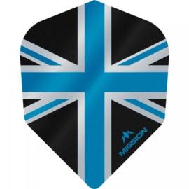 Union Jack Zwart/Blauw No6