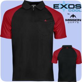 Exos shirt zwart/rood