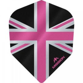 Union Jack Zwart/Roze No6