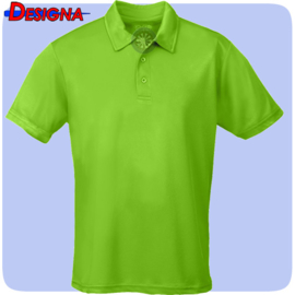 Designa Just Cool Breathable Dart Team Polo Shirt Lime Green