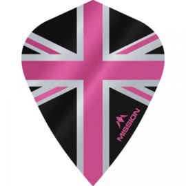 Union Jack Zwart/Roze Kite