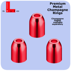 Metal Premium Rings Rood