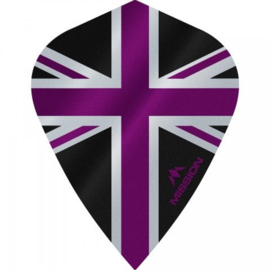 Union Jack Zwart/Paars Kite