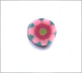 fimokraal roze bloem