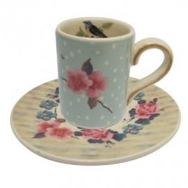 Songbird blue espresso cup, disaster designs