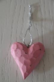 hangertje hart hout roze, Imbarro