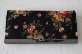 portemonnee zwart bloemen