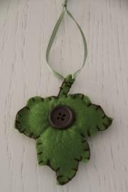 hanger herfstblad groen