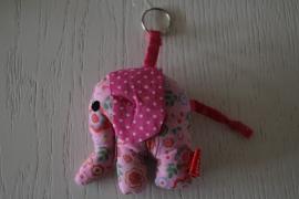 Sleutel-/tashanger olifant van global affairs, roze