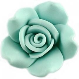 roosje fimo, zacht turquoise