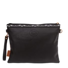 Penny black clutch bag
