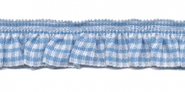 blauw-wit geruite roezel elastiek