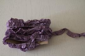 paars-wit geruite roezel elastiek