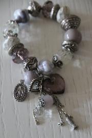 armband grijs/zilver