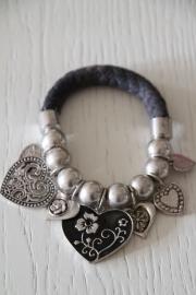 armband bedels, grijs