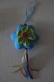 hanger bloem, blauw