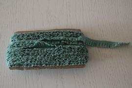 groen-wit geruite roezel elastiek
