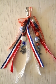 handgemaakte tas-/sleutelhanger Ik hou van Holland!