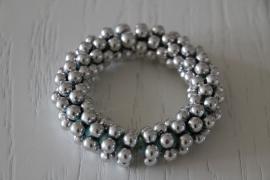 armband groen/zilverkleurig